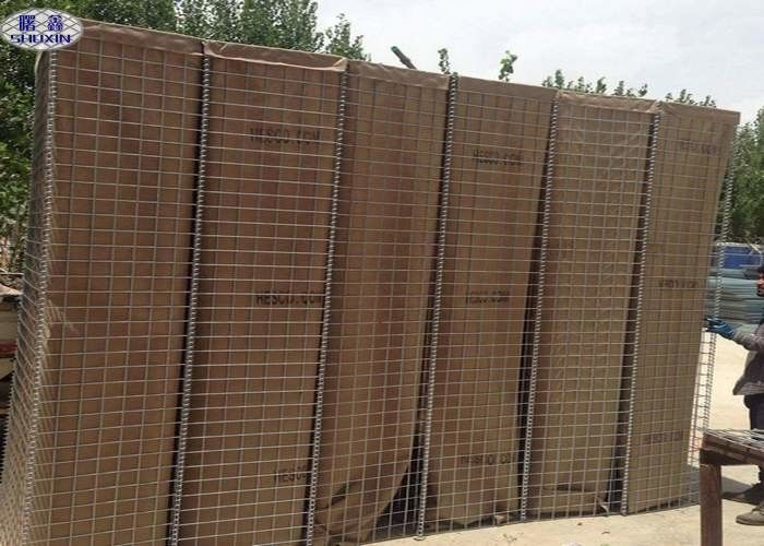 Sand Filled Barriers Welded Defensive Barriers Wall With Non - Woven Geotextile