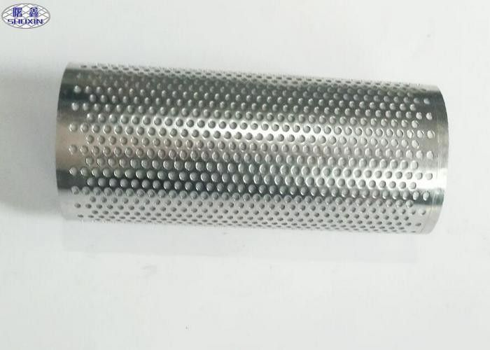 Micro Metal Mesh Perforated Filter Tube High Strength Customized Hole