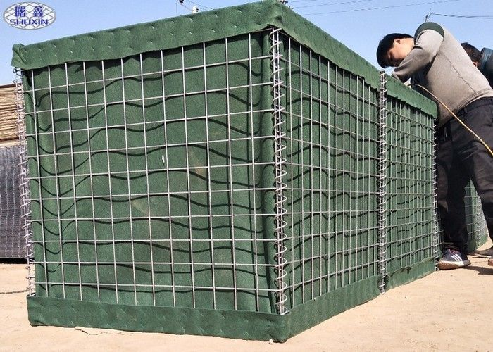 Galvanzied Sand Filled Barriers Hesco Bastion Defense Barriers Wall