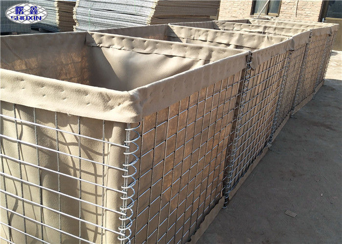 Durable Geotextile Lined Welded HESCO Sand Filled Barriers for Perimeter Wall